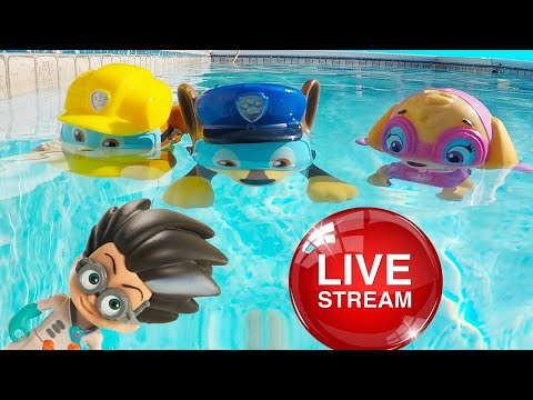 Ellie Sparkles TV ⭐ Summer Pool Challenge Fun with Paw Patrol - Jail Rescue, Slime Challenges