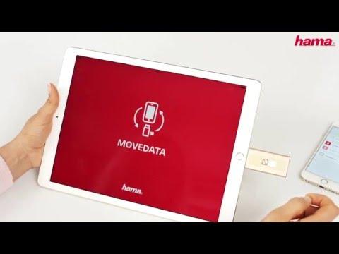 """Hama Lightning-USB-Kartenleser """"MoveData"""", microSD"""