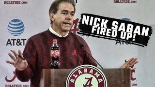Nick Saban blows up over forward looking questions