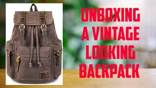 Vintage Canvas Leather Backpack for your Gadgets (Unboxing And Review)