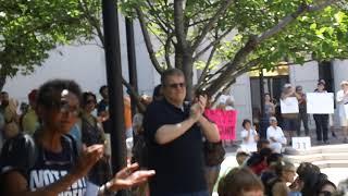 Julian Diego Lopez-Leyva kicks off rally with his poem (8/13/17)