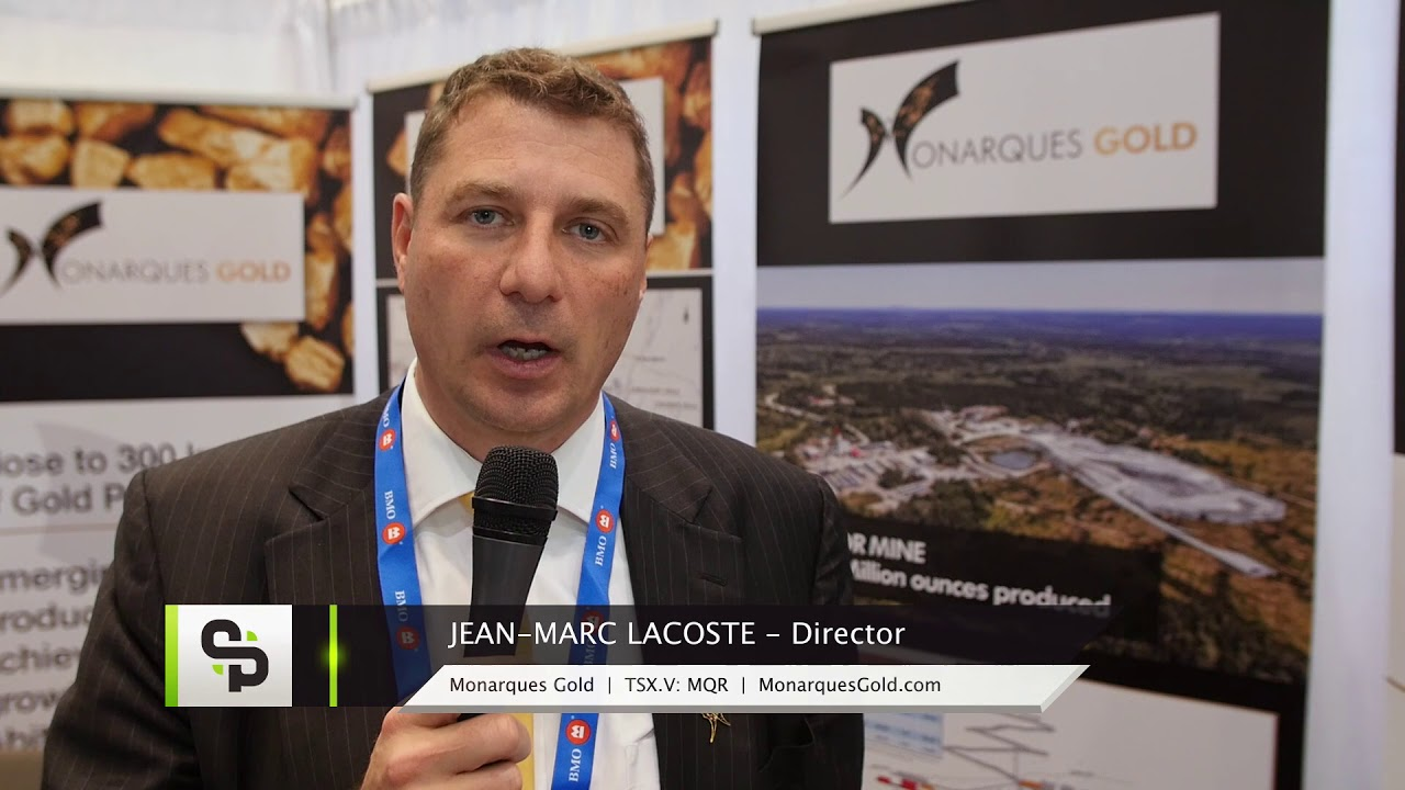 Monarques Gold Catalyst Clip with Director Jean-Marc Lacoste at the 2018 PDAC in Toronto