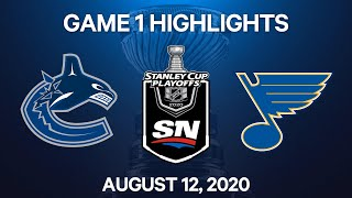 NHL Highlights   1st Round, Game 1: Canucks vs. Blues – Aug. 12, 2020