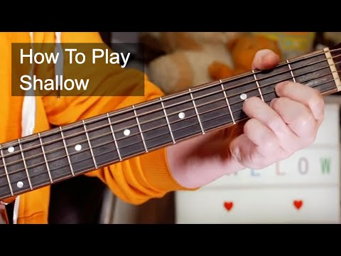 Download Shallow Guitar Tutorial Lady Gaga And Bradley Cooper Easy