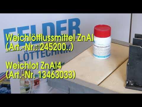 Aluminium Löten mit FELDER ZnAl4 1080p25