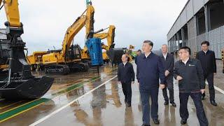Xi Jinping odwiedza producenta maszyn w południowych Chinach