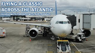 Flying the CLASSIC Air Transat A310   TripReport   Glasgow to Toronto   Economy (Option Plus)