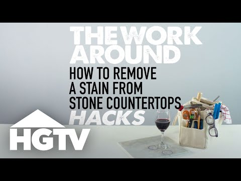 How to Remove Countertop Stains - The Work Around - HGTV