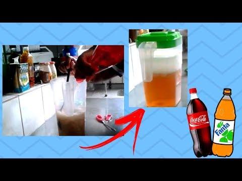 Como fazer  refrigerante bom e barato com apenas  2 ingredientes|pretona cozinha|
