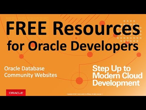 Free Training and Resources for Oracle Database Developers ...