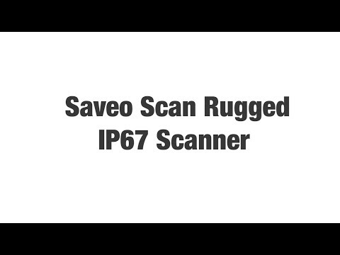 SAVEO SCAN Rugged 1D Bluetooth Companion Barcode Scanner video thumbnail