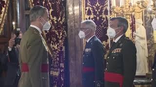 Audiencia militar de S.M. el Rey a un Grupo de Generales de División y Vicealmirante