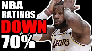 NBA Ratings TANK! Ratings DOWN 70% In The 2020 NBA Finals! Here's Why It's In DECLINE!