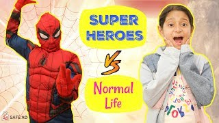 "This video is sponsored by SONY PICTURES ENTERTAINMENT. Follow Insta for Behind The Scene: https://tinyurl.com/MyMissAnand We all love superheroes & wants to be like them!! So today 's video is all about life of a Normal Person vs Super Heroes. I am sure you are gonna love this.  Do LIKE & SHARE this with your friends and Target is 200,000 LIKES.   My AWESOME Channels:  SUBSCRIBE To ShrutiArjunAnand - https://goo.gl/1gmCTA SUBSCRIBE To ShrutiVlogs - https://goo.gl/00seNe SUBSCRIBE To MyMissAnand - https://goo.gl/mnBhXg SUBSCRIBE To Anaysa - https://goo.gl/5A2h93 SUBSCRIBE To CookWithNisha - https://goo.gl/Kep2iS SUBSCRIBE To LafanGAY - https://goo.gl/XRHDrq  CAMERA CREDITS: https://www.instagram.com/yadu_clicks  XoXo Miss Anand  NEW UPLOADS every FRIDAY!!!  AUDIO DISCLAIMER/CREDITS – ""Music from Epidemic Sound (http://www.epidemicsound.com)""   ** funy blogger youtube family vlog comp laugh then sketch good vs reality roleplay india vlog shruti anand comedy types of people in real life daily vlog funny videos 2018 anantya mymissanand funny girl shrutiarjunanand travel vlogs vines humor blogging trending now bloopers behind the scenes tv serials colgate hindi blog tv series good manners movie review"
