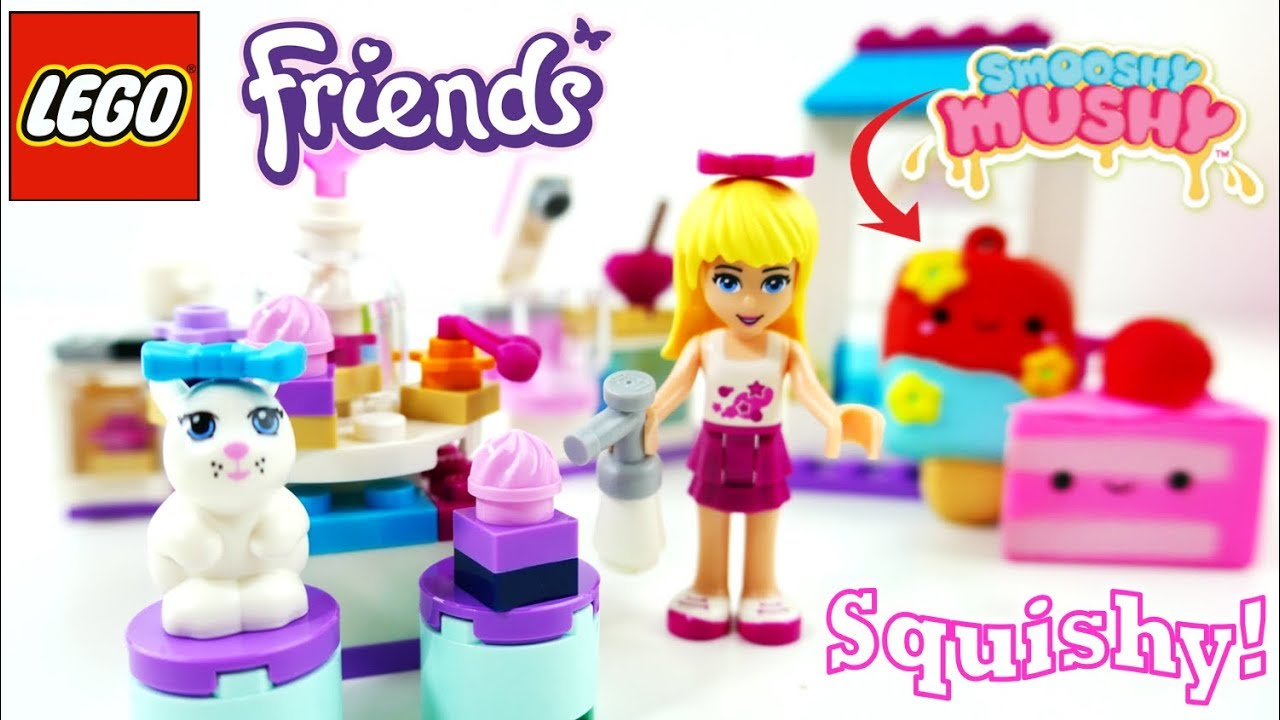 Lego Friends Stephanie's Friendship Cakes Build Review and Smooshy Mushy Squishies