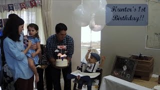 Hunters 1st Birthday Vlog | Vintage Airplane Party