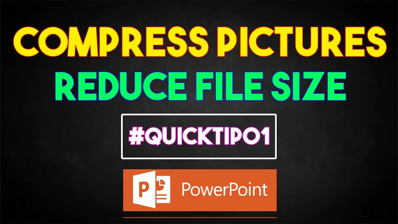 Reduce the file size of a PowerPoint presentation