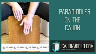 Paradiddles on the Cajon