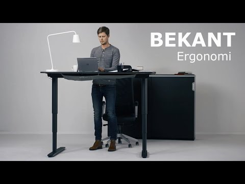 Bekant Ergonomi Ikea S New Sit Stand Desk On Animation