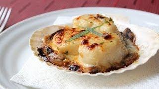 Coquilles St Jacques - Creamy Scallop & Mushroom Gratin Recipe