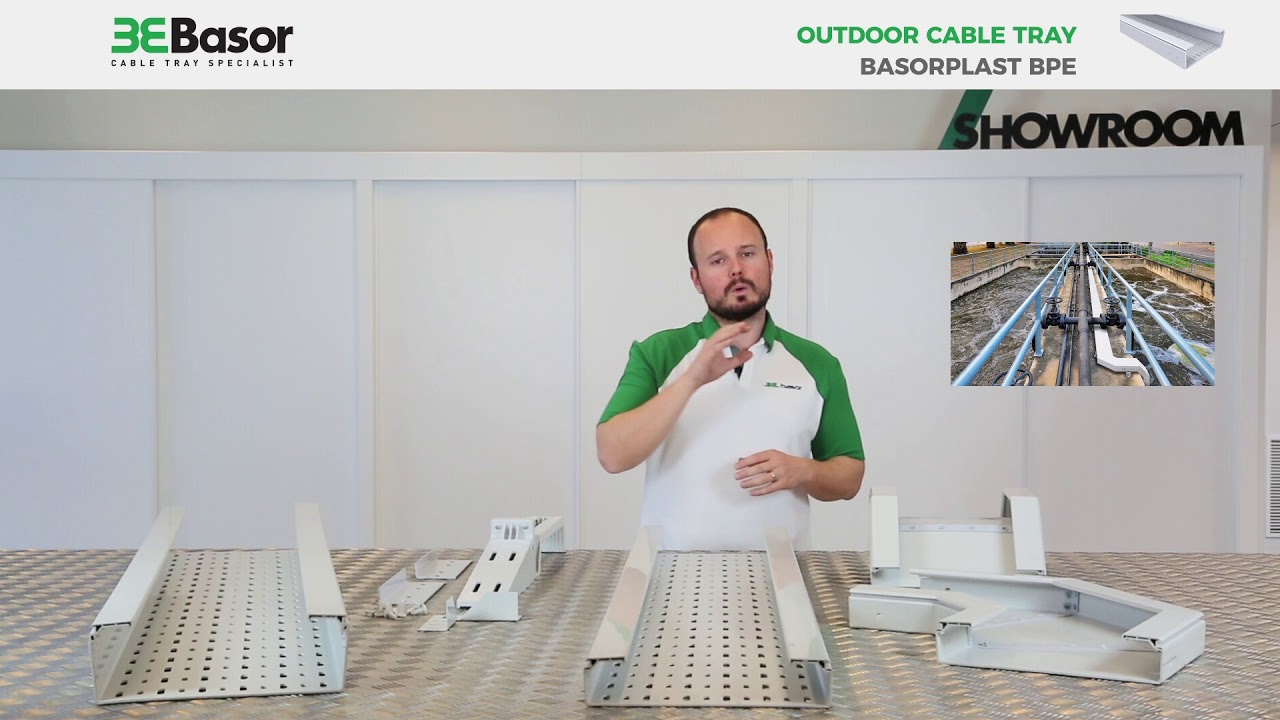 PVC cable tray basorplast bpe outdoor uses and characteristics