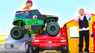 ULTIMATE Power Wheels Cars | MONSTER TRUCK  | Videos for Kids