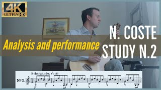 Napoleon Coste, study n. 2 op. 38. Analysis and Performance.