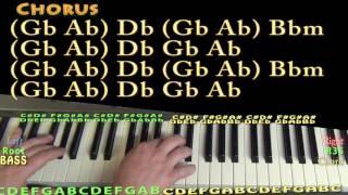 Little Red Corvette (Prince) Piano Lesson Chord Chart - Db Bbm Gb Ab