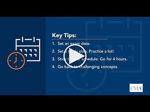 EP 2: Developing a study plan - Passing the CMA Exam - YouTube