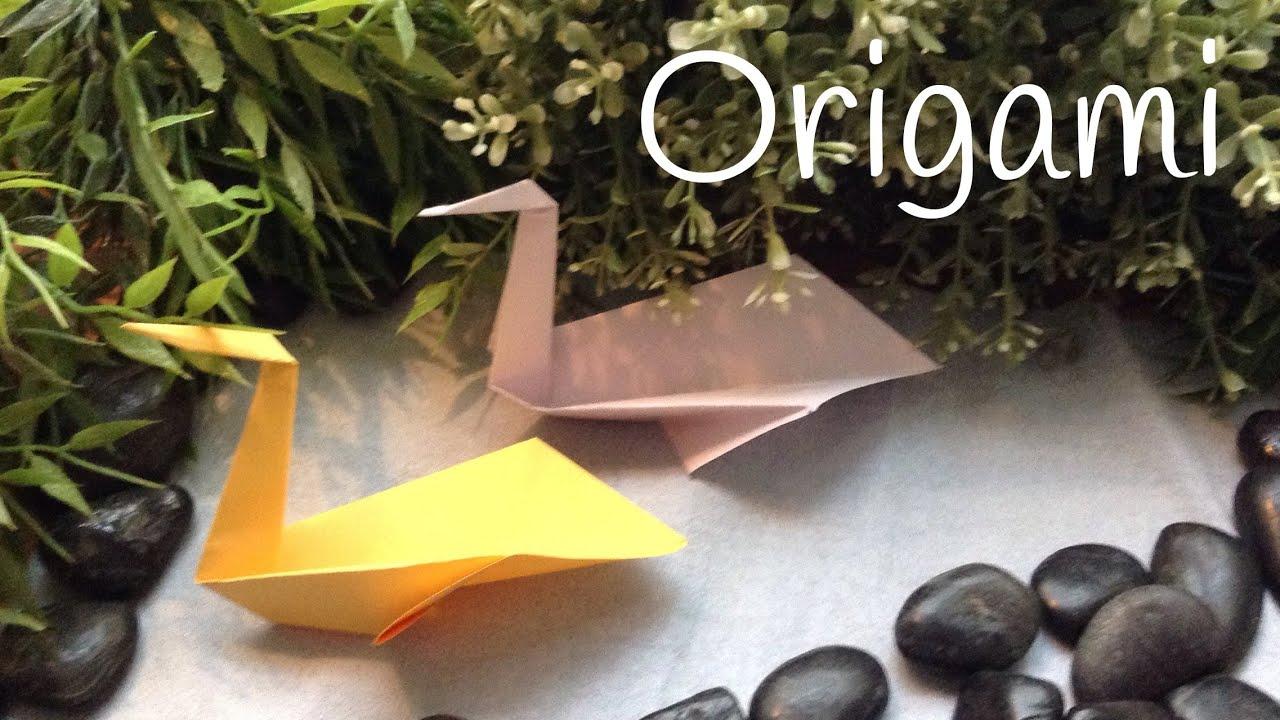Cómo hacer un cisne de papel fácil: origami fácil para niños