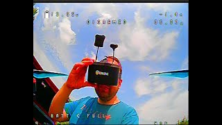 Tyro 129 FPV Racing drone footage from Eachine googles. My first flight with stabilized mode.
