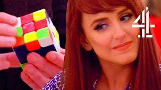 Guy With OCD Solves Rubik's Cube To Impress Girl With Dyspraxia | First Dates