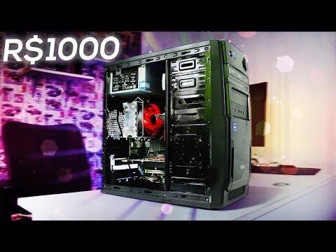 PC GAMER BARATO (R$1000) Roda Jogos Pesados - Montagem e Testes 2018