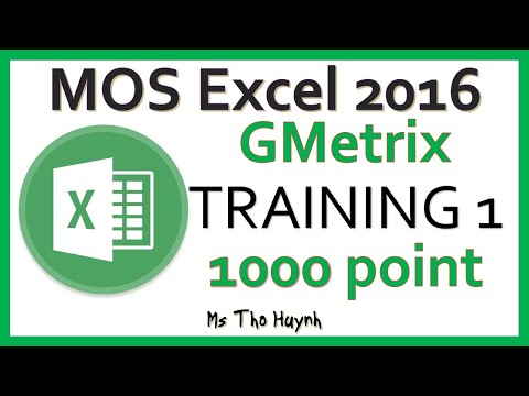 MOS Excel 2016 Exam 1 - YouTube
