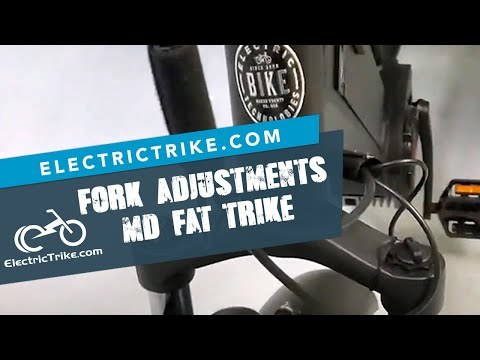 Electric Trike | Fork Adjustment Explained