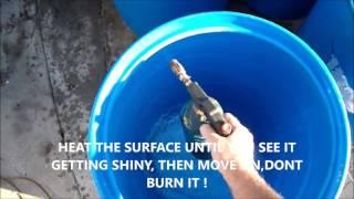 how to cut top  off a 55 gallon barrel