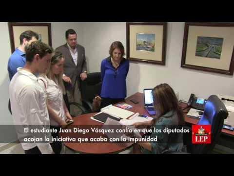 Jóvenes del Movin proponen eliminar prescripción de penas por peculado