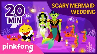 Mermaid Wedding and more | +Compilation | Baby Shark Halloween Songs | Pinkfong Songs for Children