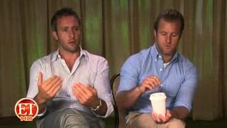 Alex OLoughlin And Scott Caan On ET