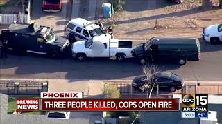 Three people killed, suspect injured in Phoenix officer-involved shooting