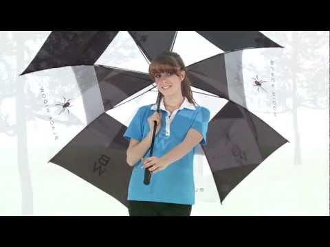 Masters Golf - Black Widow Umbrella Double Canopy UMBW68
