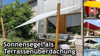 Sonnensegel auf der Terrasse: Alles, was man zum Einstieg wissen muss! | FAQ ☀️ Pina