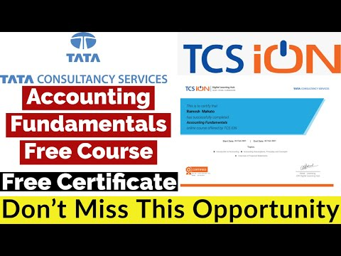 Accounting Fundamentals Free Course With Free Certificate | TCS ...