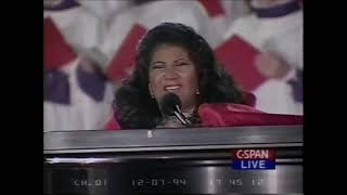 Aretha Franklin LIGHTING OF THE WHITE HOUSE CHRISTMAS TREE