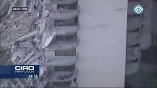 Edificio residencial se desploma en Miami sin razón aparente y deja al menos un muerto