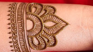 Full Hand Bharma Arabic Henna Mehndi Design For Festival || Latest Bridal Easy Mehndi By Amisha Arts