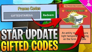 GIFTED BEE UPDATE CODES IN ROBLOX BEE SWARM SIMULATOR!