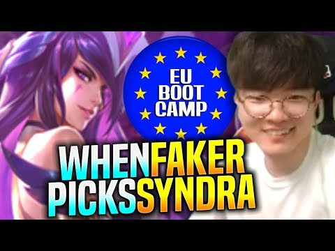 When FAKER Plays Syndra Bot ft Elmillor & TheShy! - SKT T1 Faker Plays Syndra vs Xayah Bot!