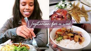 Tried Being Vegetarian For A Week | VLOG