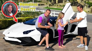 Homeless Dave Returns in Lamborghini!!!